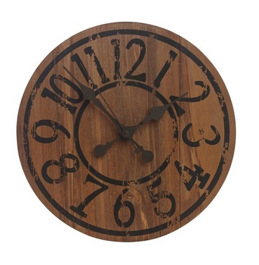 Saloon Wooden Garden Outside Clock 33cm