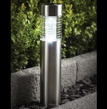 Stainless Steel Bollard Solar Light - Cole and Bright