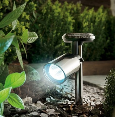 Nickel Black Solar Spotlight - Cole and Bright