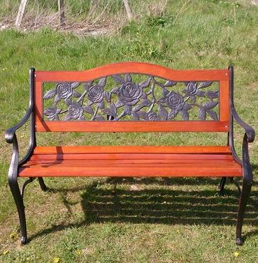Lyon Bench - Garden Furniture in Wood & Metal