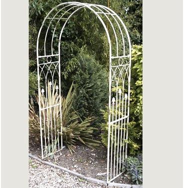 Louis Metal Garden Arch - Aged Cream - Jonart