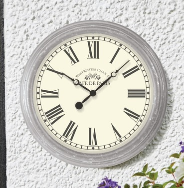 Biarritz Garden Outside Wall Clock - French Style Indoor or Outdoor Clock