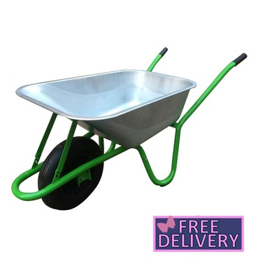 Garden Galvanised Wheelbarrow - 90L / 175kg - Charles Bentley