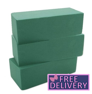 3 Blocks Florist Foam Wet Bricks Floral for Cut Flowers Similar as Oasis