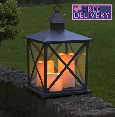 Monterey Lantern Indoor or Outdoor Garden Battery Powered Candle Lantern