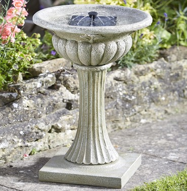 Rochester Birdbath Water Feature - Solar Powered
