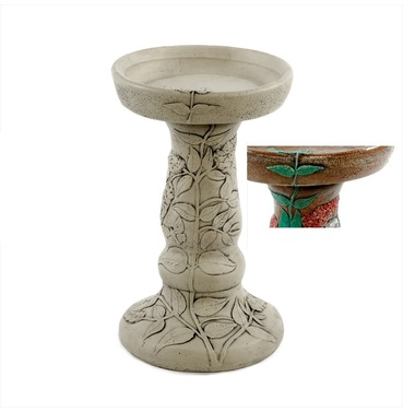 Stone Buddleia Bird Bath - Multiple Colour Finishes - Melmar Stone