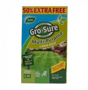 Gro Sure Multi-Purpose Lawn Grass Seed 450g  - Buy One Get One Free
