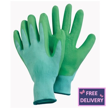 Comfi Soft Latex Gardening Gloves - Medium - Green