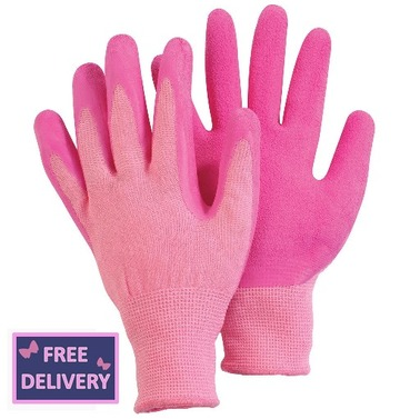Comfi Soft Latex Gardening Gloves - Medium - Pink