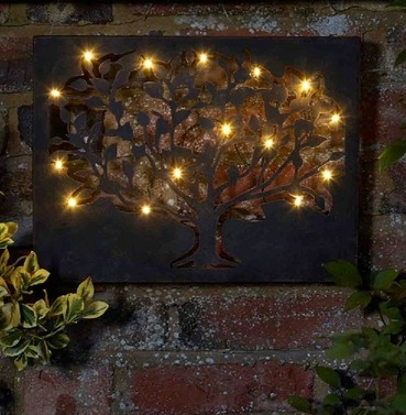 Silhouette Tree LED Lite Wall Art & Ornaments u0026 Garden Art / Wall Art - The Garden Factory