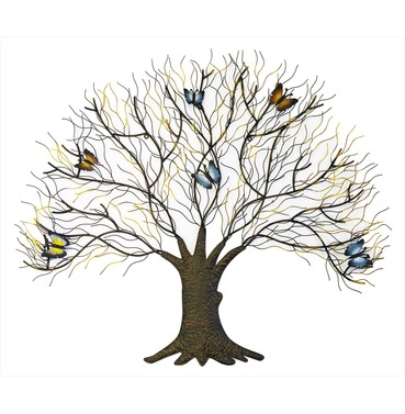 Wall Art Tree with Butterflies - Small - Fountasia