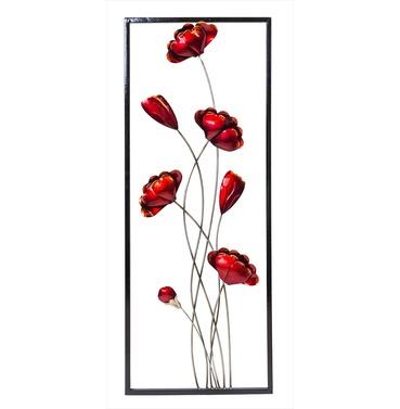 Wall Art Poppies - Poppy Indoor or Outdoor Garden Wall Art Fountasia