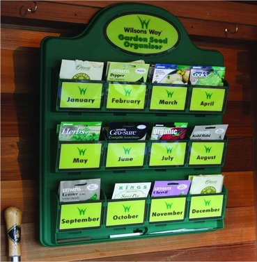 Garden Seed Organiser with 6 FREE Veg / Flower Seed Packets