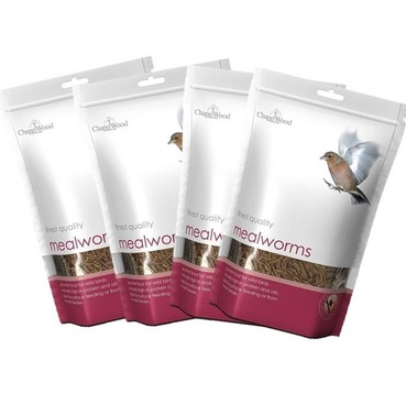 Chapelwood Quality Mealworms - 2kg (4 x 500g)