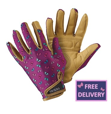 "Profession ""Elle"" Lavender Gardening Gloves - Medium - Briers"