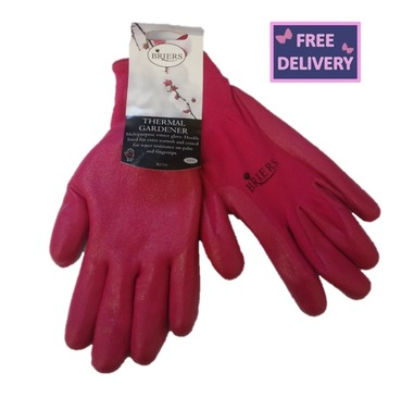 Thermal Gardeners Gardening Gloves - Pink - Medium - Briers