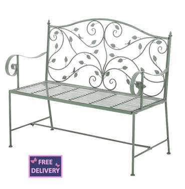 Woodland Garden Metal Bench - Ascalon
