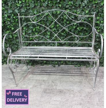 Westminster Garden Metal Bench - Ascalon