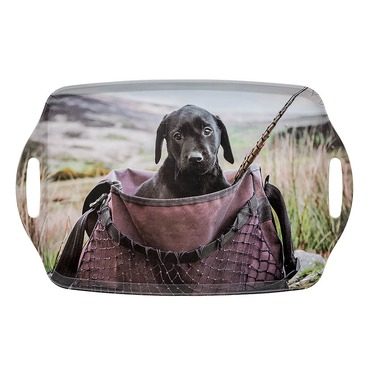 Lab in Game Bag Tray - Country Matters Tea Tray