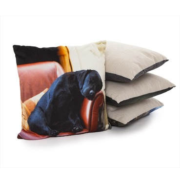 Sleeping Lab Cushion - Country Matters Dog Print Cushion