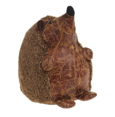 Henry the Hedgehog Doorstop - PU Leather & Cotton Fabric Door Stop