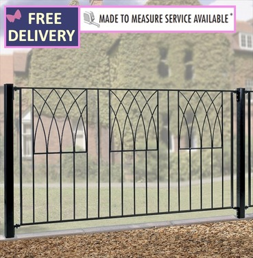 Abbey Metal Fence Panel 6ft Wide (1830mm)