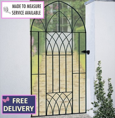 Abbey Tall Bow Top Garden Gate