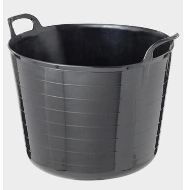 Garden Flexi Tub Bucket - Black - Different Size Options