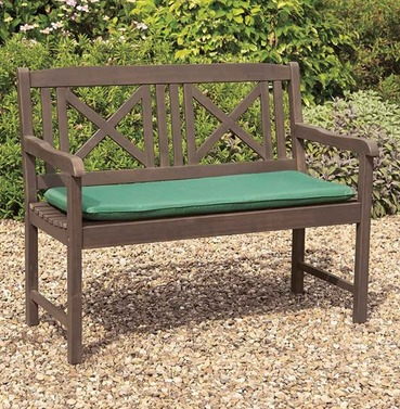 Saigon Hardwood Garden Wooden Bench - Grey