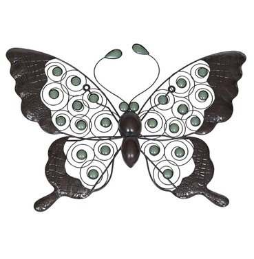 Butterfly Wall Art With Glow In The Dark Beads