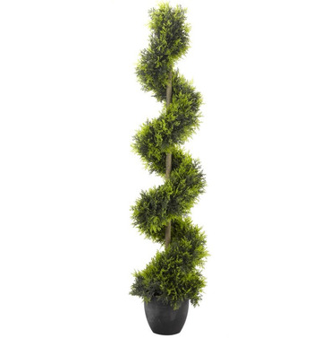 Cypress Twirl Faux Artificial Topiary Tree - 120cm