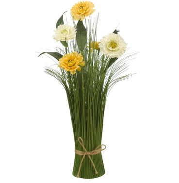 Mellow Yellow Faux Artificial Bouquet of Flowers