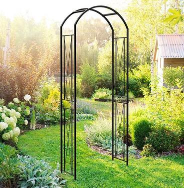 Round Top Metal Garden Arch