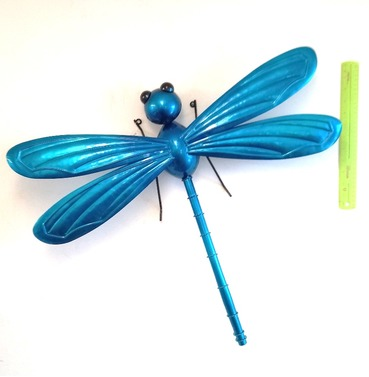 Dragonfly Garden Wall Art 3D - Turquoise Blue - X Large