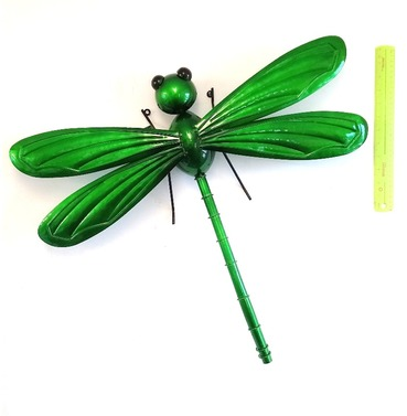 Dragonfly Garden Wall Art 3D - Green - X Large