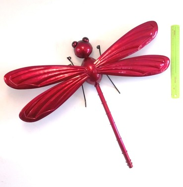 Dragonfly Garden Wall Art 3D - Red - X Large