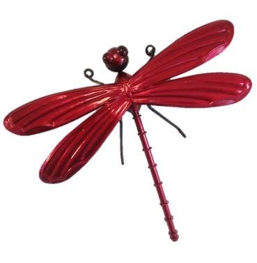 Dragonfly Garden Wall Art 3D - Red - Small