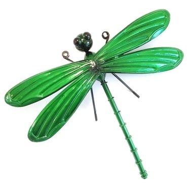 Dragonfly Garden Wall Art 3D - Green - Small