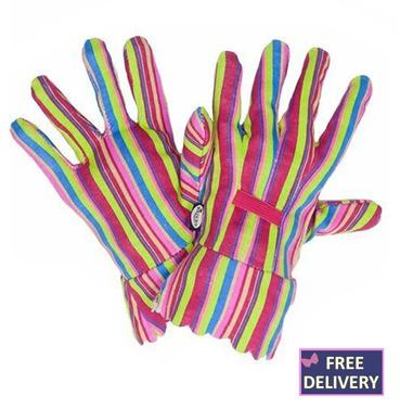 All Season Bold Stripe Gardening Gloves - Medium