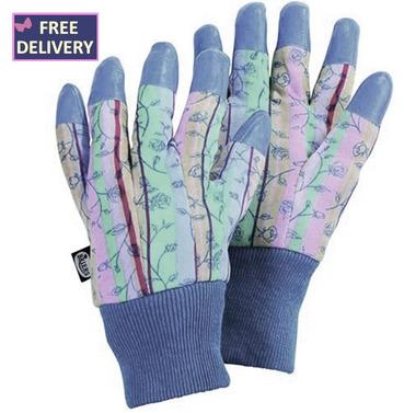 All Season Finger Tips Rose Stripe Gardening Gloves - Medium