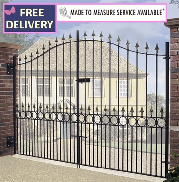 Balmoral Tall Bow Top Double Driveway Gate