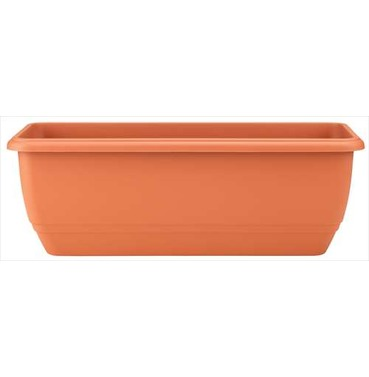 Balconniere Self Watering Trough Terracotta 50cm - Lightweight