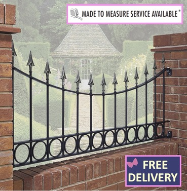 Balmoral Shaped Garden Railing 6ft wide