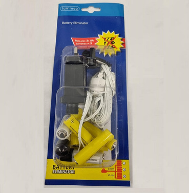 Battery Eliminator - Replaces 3 x AA Batteries in to a Mains Plug - 2.55m Length
