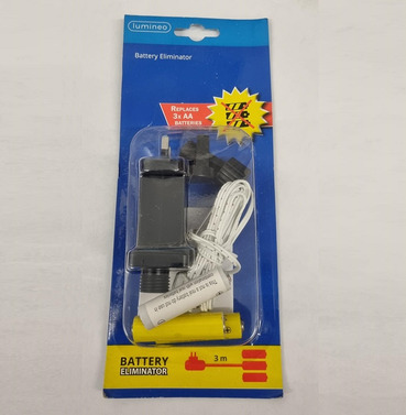 Battery Eliminator - Replaces 3 x AA Batteries in to a Mains Plug - 3m Length