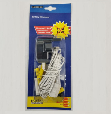 Battery Eliminator - Replaces 2 x AAA Batteries in to a Mains Plug - 2.55m Length
