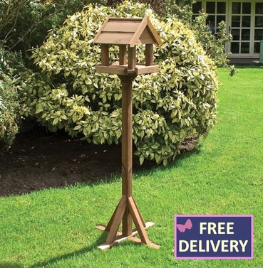 Bisley Bird Table - Wooden Bird Table and Stand