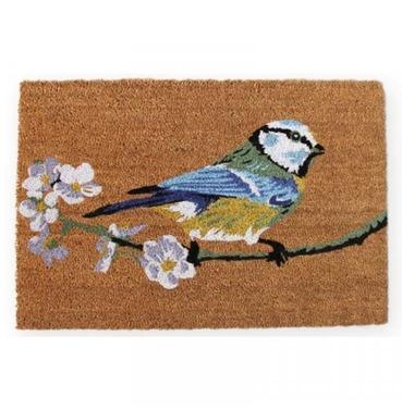 Blue Tit Coir Doormat - Extra Large - 60 x 90 cm