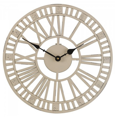 Buckingham Cream Metal Wall Clock 34cm